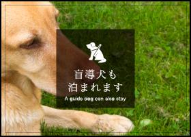 盲導犬も泊まれます